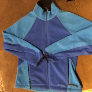 LL Bean Soft Brushed Fleece ZIP - Women's S Blue